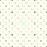 Χαριτωμένο αναδρομικό αφηρημένο floral άνευ ραφής σχέδιο Στοκ Εικόνες