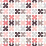 Χαριτωμένο αναδρομικό αφηρημένο floral άνευ ραφής σχέδιο Στοκ Φωτογραφίες