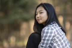 Χαριτωμένο ασιατικό κορίτσι Στοκ Φωτογραφίες