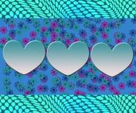 Χαριτωμένο αφηρημένο σχέδιο με την αγάπη Στοκ εικόνες με δικαίωμα ελεύθερης χρήσης
