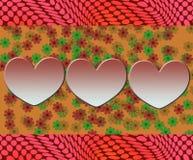 Χαριτωμένο αφηρημένο σχέδιο με την αγάπη Στοκ Εικόνες