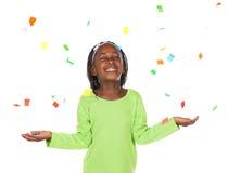 Χαριτωμένο αφρικανικό κορίτσι Στοκ εικόνα με δικαίωμα ελεύθερης χρήσης
