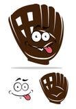 Χαριτωμένο γάντι μπέιζ-μπώλ κινούμενων σχεδίων Στοκ Φωτογραφίες