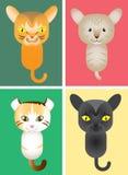Χαριτωμένο γατάκι, διανυσματική απεικόνιση Στοκ Φωτογραφίες