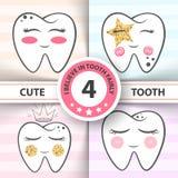 Χαριτωμένο δόντι - ιατρικό, απεικόνιση υγείας διανυσματική απεικόνιση