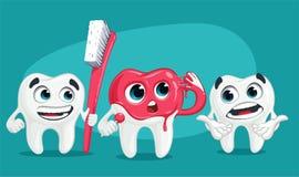 Χαριτωμένο δόντι κινούμενων σχεδίων Στοκ εικόνα με δικαίωμα ελεύθερης χρήσης