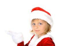χαριτωμένο δώρο λίγο santa παρ&omic Στοκ Εικόνα