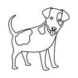 Χαριτωμένο εικονίδιο σκυλιών Στοκ φωτογραφία με δικαίωμα ελεύθερης χρήσης