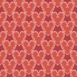 Χαριτωμένο εκλεκτής ποιότητας σχέδιο καρδιών Στοκ Φωτογραφίες