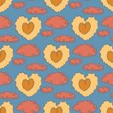 Χαριτωμένο εκλεκτής ποιότητας σχέδιο καρδιών Στοκ Εικόνες