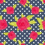 Χαριτωμένο εκλεκτής ποιότητας floral σχέδιο επίσης corel σύρετε το διάνυσμα απεικόνισης Στοκ Εικόνες