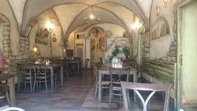 Χαριτωμένο εστιατόριο στην Πράγα Στοκ Εικόνες