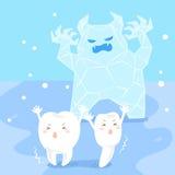 Χαριτωμένο ευαίσθητο δόντι κινούμενων σχεδίων Στοκ φωτογραφίες με δικαίωμα ελεύθερης χρήσης