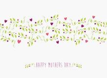 Χαριτωμένο ευτυχές άνευ ραφής σχέδιο ημέρας μητέρων Στοκ Φωτογραφίες
