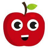 Χαριτωμένο ευτυχές μήλο Στοκ Φωτογραφίες