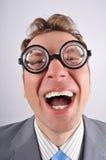 χαριτωμένο ευτυχές nerd στοκ εικόνες με δικαίωμα ελεύθερης χρήσης