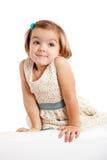 Χαριτωμένο εύθυμο μικρό κορίτσι Στοκ Εικόνες