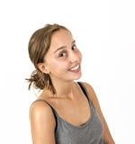 Χαριτωμένο ελκυστικό νέο κορίτσι Στοκ φωτογραφία με δικαίωμα ελεύθερης χρήσης