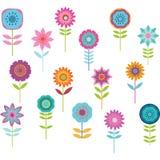 Χαριτωμένο ζωηρόχρωμο λουλούδι Στοκ Εικόνες