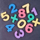 Χαριτωμένο ζωηρόχρωμο σύνολο αριθμού Στοκ φωτογραφία με δικαίωμα ελεύθερης χρήσης