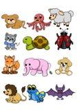 Χαριτωμένο ζωικό σύνολο απεικόνισης σκυλιών διανυσματικό απεικόνιση αποθεμάτων