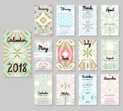 Χαριτωμένο ημερολόγιο 2018 Στοκ εικόνες με δικαίωμα ελεύθερης χρήσης
