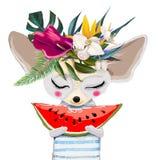 Χαριτωμένο θερινό ποντίκι απεικόνιση αποθεμάτων
