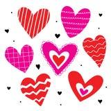 Χαριτωμένο διάνυσμα κινούμενων σχεδίων αγάπης καρδιών ελεύθερη απεικόνιση δικαιώματος