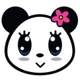 Χαριτωμένο διάνυσμα κινούμενων σχεδίων κοριτσιών της Panda Στοκ Εικόνες