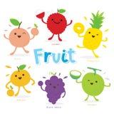 Χαριτωμένο διάνυσμα κινούμενων σχεδίων φρούτων ελεύθερη απεικόνιση δικαιώματος