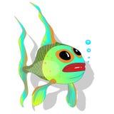 Χαριτωμένο διάνυσμα κινούμενων σχεδίων ψαριών Στοκ Εικόνες