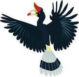 Χαριτωμένο διάνυσμα ρινοκέρων hornbill στοκ εικόνα