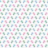 Χαριτωμένο διανυσματικό άνευ ραφής σχέδιο λουλουδιών Στοκ φωτογραφία με δικαίωμα ελεύθερης χρήσης