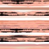Χαριτωμένο διανυσματικό γεωμετρικό άνευ ραφής σχέδιο η αφηρημένη βούρτσα χρωμάτισε την πραγματική σύσταση κτυπημάτων επισημαμένος Στοκ Εικόνες