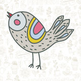Χαριτωμένο διανυσματικό πουλί Στοκ εικόνα με δικαίωμα ελεύθερης χρήσης