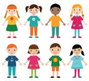 Χαριτωμένο διανυσματικό σύνολο παιδιών Στοκ φωτογραφίες με δικαίωμα ελεύθερης χρήσης