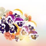 Χαριτωμένο διανυσματικό υπόβαθρο με την ανθοδέσμη των λουλουδιών Στοκ εικόνα με δικαίωμα ελεύθερης χρήσης