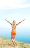 χαριτωμένο κάνοντας κορίτσι γυμναστικό Στοκ εικόνα με δικαίωμα ελεύθερης χρήσης