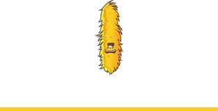 Χαριτωμένο κίτρινο γέλιο τεράτων Στοκ εικόνες με δικαίωμα ελεύθερης χρήσης