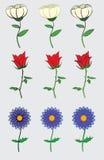 Χαριτωμένο και απλό σχέδιο λουλουδιών Στοκ εικόνα με δικαίωμα ελεύθερης χρήσης