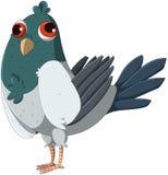 Χαριτωμένο και αστείο αλλήθωρο περιστέρι διανυσματική απεικόνιση