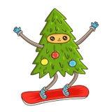 Χαριτωμένο και αστείο χριστουγεννιάτικο δέντρο Στοκ φωτογραφία με δικαίωμα ελεύθερης χρήσης