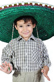 Χαριτωμένο κατσίκι με το μεξικάνικο καπέλο Στοκ Φωτογραφίες