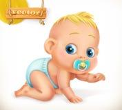 χαριτωμένο κατσίκι Μωρό διάνυσμα εικονιδίων εργαλείων Στοκ Εικόνες