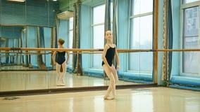 Χαριτωμένο κομψό ballerina απόθεμα βίντεο
