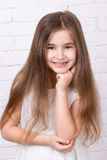 χαριτωμένο κορίτσι λίγο πορτρέτο Στοκ Φωτογραφία
