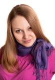χαριτωμένο κορίτσι ανασκό&p Στοκ εικόνα με δικαίωμα ελεύθερης χρήσης