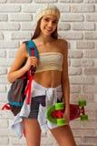 χαριτωμένο κορίτσι εφηβι&kap Στοκ εικόνα με δικαίωμα ελεύθερης χρήσης