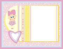χαριτωμένο κορίτσι καρτών μικρό απεικόνιση αποθεμάτων