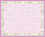 χαριτωμένο κορίτσι καρτών μ διανυσματική απεικόνιση